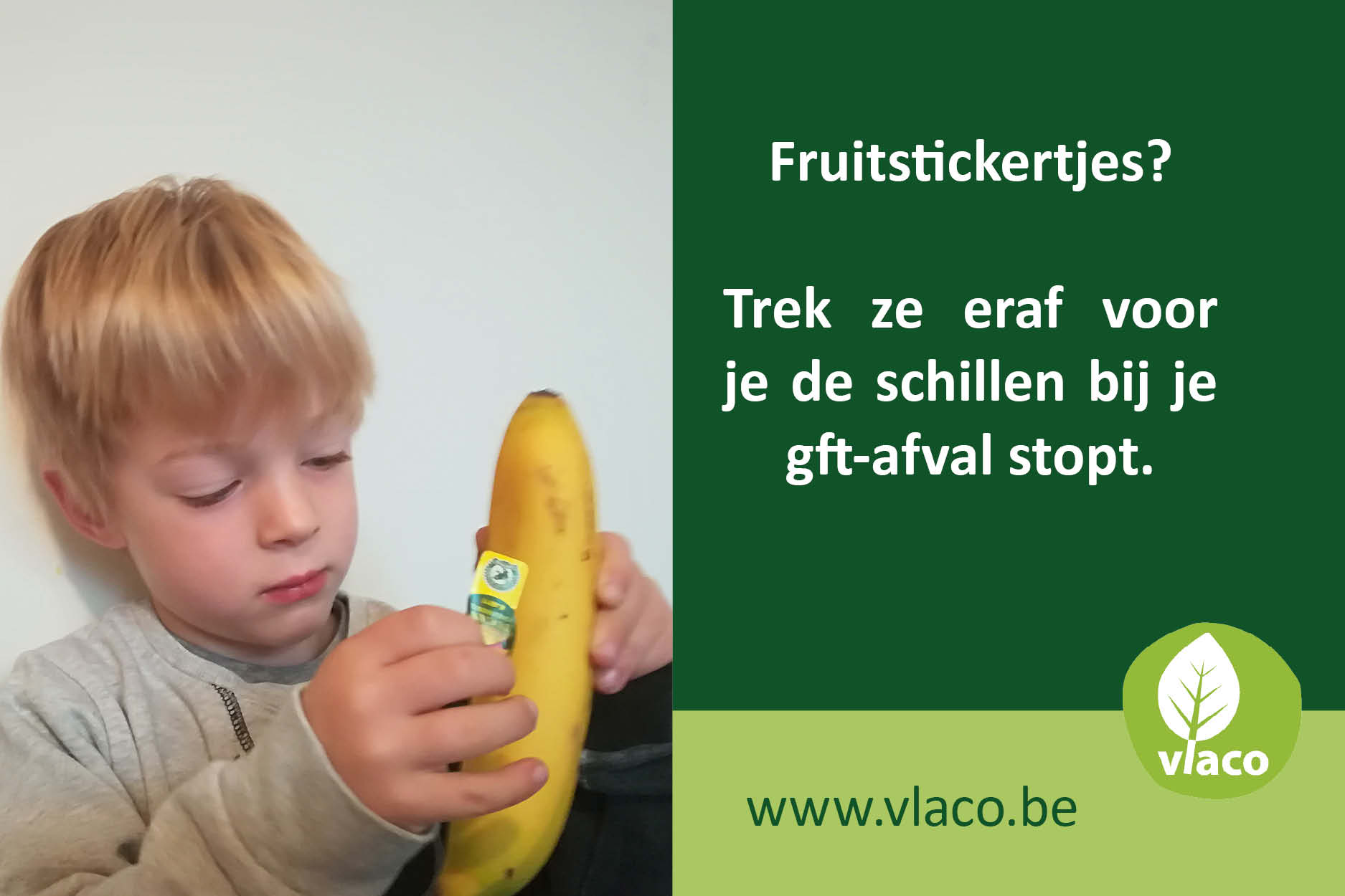 Trek fruistickertjes eraf